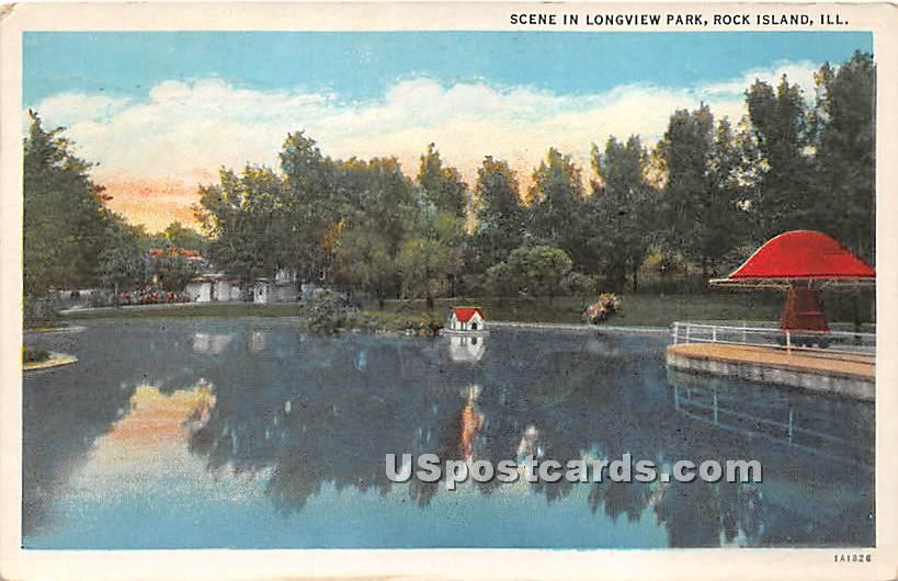Longview Park - Rock Island, Illinois IL Postcard