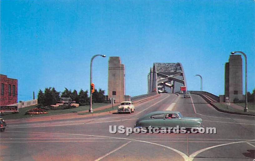 Centennial Bridge - Rock Island, Illinois IL Postcard