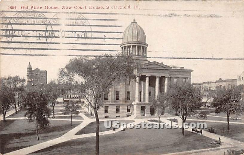 Old State House, Now Court House - Springfield, Illinois IL Postcard