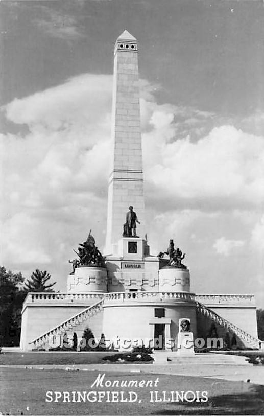 Monument - Springfield, Illinois IL Postcard