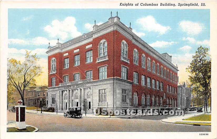 Knights of Columbus Building - Springfield, Illinois IL Postcard