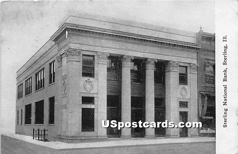 Sterling National Bank - Illinois IL Postcard