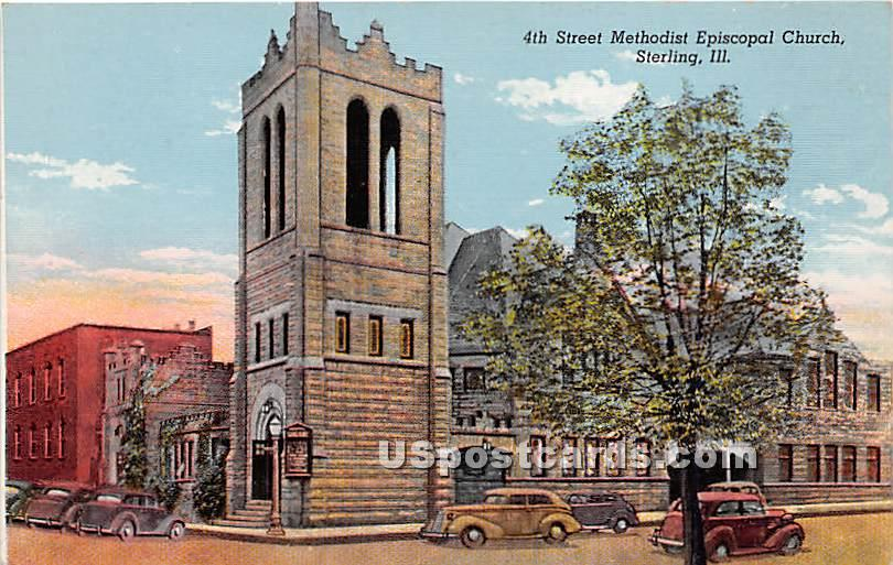 4th Street Methodist Episcopal Church - Sterling, Illinois IL Postcard