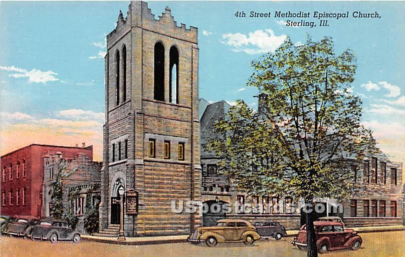 4th Street Methodist Episcopal Church - Sterling, Illinois IL Postcard