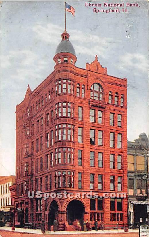 Illinois National Bank - Springfield Postcard