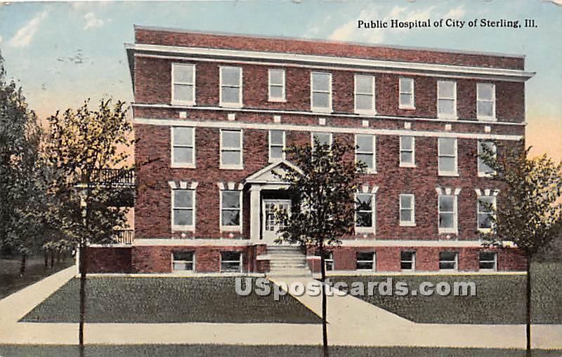 Public Hospital of City - Sterling, Illinois IL Postcard