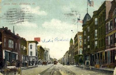Street - Aurora, Illinois IL Postcard
