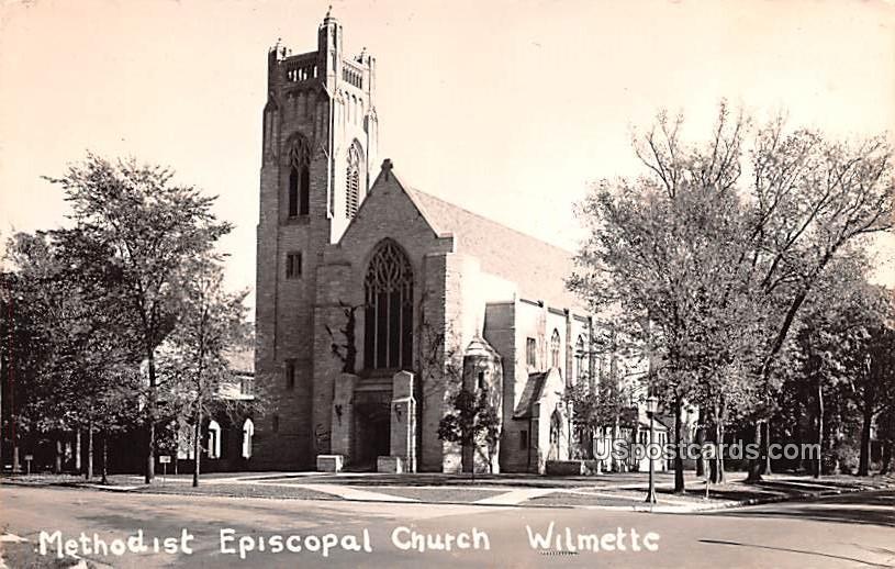 Methodist Episcopal Church - Wilmette, Illinois IL Postcard