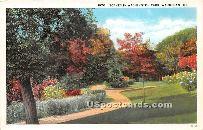 Washington Park - Waukegan, Illinois IL Postcard