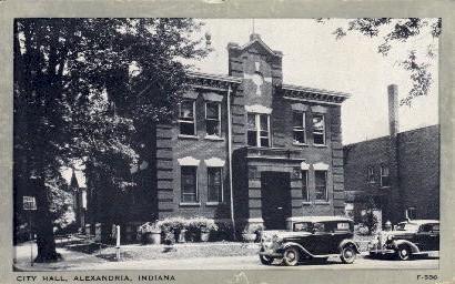 City Hall - Alexandria, Indiana IN Postcard