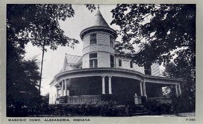 Masonic Home - Alexandria, Indiana IN Postcard
