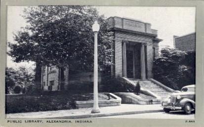 Public Library - Alexandria, Indiana IN Postcard