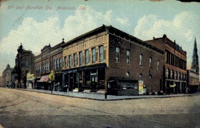 9th and Meridian Sts. - Anderson, Indiana IN Postcard