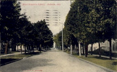 West Seventh Street - Auburn, Indiana IN Postcard