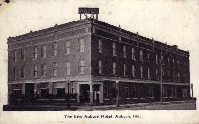 The New Auburn Hotel - Indiana IN Postcard