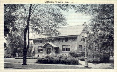 Library - Auburn, Indiana IN Postcard