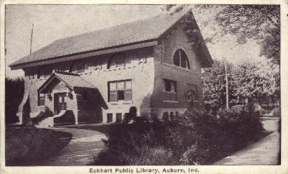 Eckhart Public Library - Auburn, Indiana IN Postcard