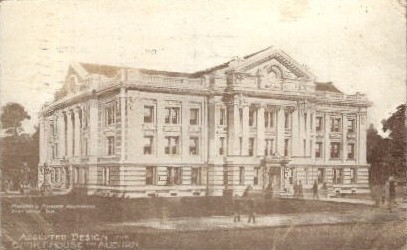Accepted Design for Court House - Auburn, Indiana IN Postcard