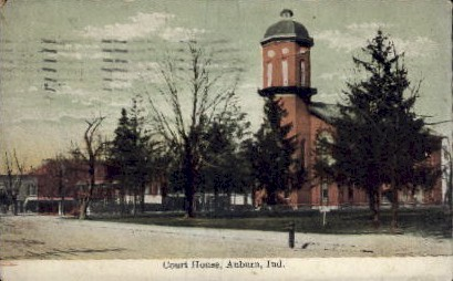 Court House  - Auburn, Indiana IN Postcard
