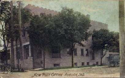 New Post Office - Auburn, Indiana IN Postcard