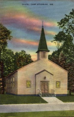 Chapel, Camp Atterbury - Misc, Indiana IN Postcard