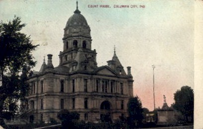 Court House - Columbia City, Indiana IN Postcard