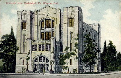 Scottish Rite Cathedral - Fort Wayne, Indiana IN Postcard