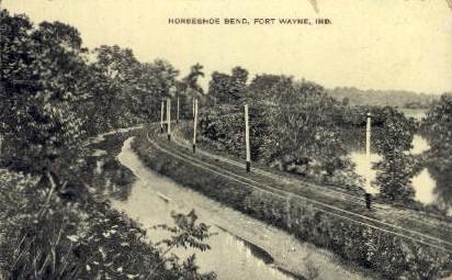 Horseshoe Bend - Fort Wayne, Indiana IN Postcard