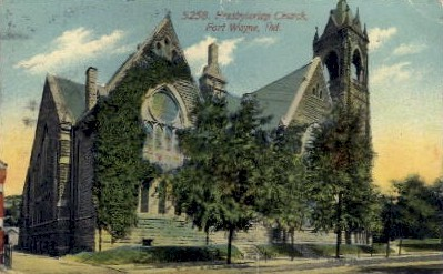 5258. Presbyterian Church - Fort Wayne, Indiana IN Postcard