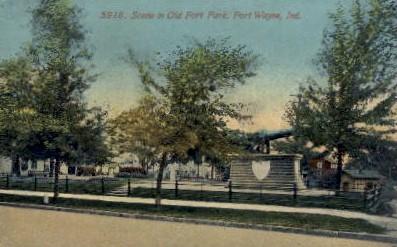 Old Fort Park - Fort Wayne, Indiana IN Postcard