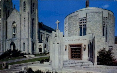 MacDougal Chapel, Cathedral Square - Fort Wayne, Indiana IN Postcard