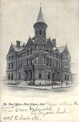 The Post Office - Fort Wayne, Indiana IN Postcard