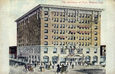 The Anthony of Fort Wayne - Indiana IN Postcard