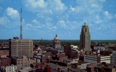 Scenic View of Downtown - Fort Wayne, Indiana IN Postcard