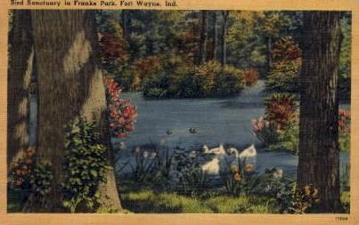 Bird Sanctuary in Franke Parke - Fort Wayne, Indiana IN Postcard