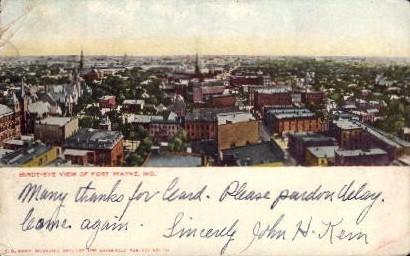 Birdseye View - Fort Wayne, Indiana IN Postcard