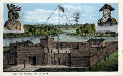 Fort Wayne in 1794 - Indiana IN Postcard