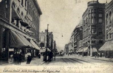 Calhoun Street - Fort Wayne, Indiana IN Postcard