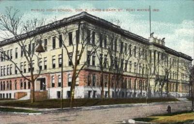 Public High School - Fort Wayne, Indiana IN Postcard