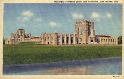 Municipal Filtration and Reservoir - Fort Wayne, Indiana IN Postcard