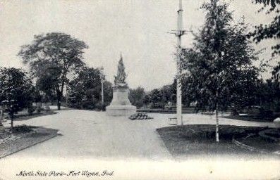 North Side Park - Fort Wayne, Indiana IN Postcard