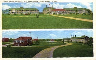 Irene Byron Tuberculosis Sanatorium - Fort Wayne, Indiana IN Postcard