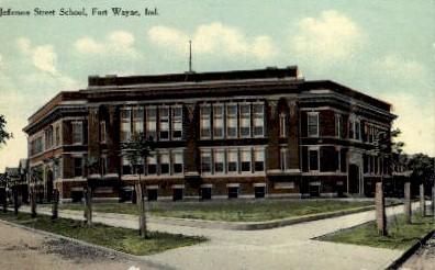 Jefferson Street School - Fort Wayne, Indiana IN Postcard