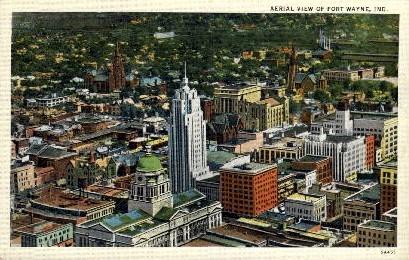 Aerial View - Fort Wayne, Indiana IN Postcard