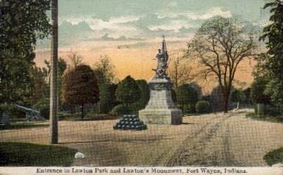 Lawton Park - Fort Wayne, Indiana IN Postcard