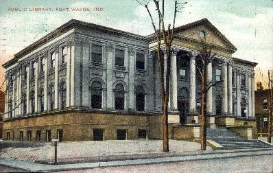 Public Library - Fort Wayne, Indiana IN Postcard