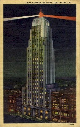 Lincoln Tower - Fort Wayne, Indiana IN Postcard