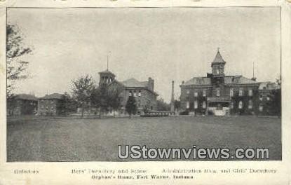 Boy's Dorm & School - Fort Wayne, Indiana IN Postcard