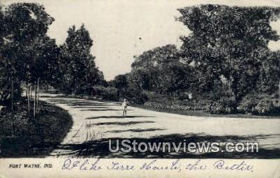 Driveway Sweeney Park - Fort Wayne, Indiana IN Postcard