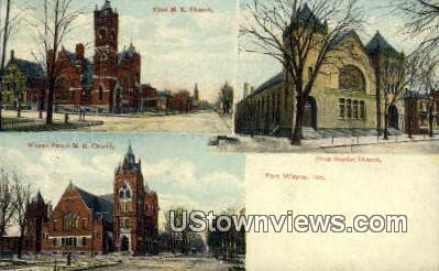 Wayne Street ME Church - Fort Wayne, Indiana IN Postcard